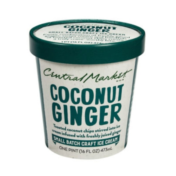 Central Market Coconut Ginger Ice Cream