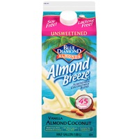 Blue Diamond Almond Breeze Unsweetened Vanilla Almond Milk & Coconut Milk  Blend