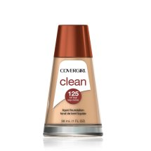 COVERGIRL Clean Makeup Foundation, Buff Beige 125, 1 oz