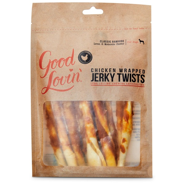 Good Lovin' Chicken Wrapped Jerky Twists Dog Chews 2.2 Oz.