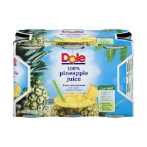 Dole Fruit Juice, Pineapple, 6 Fl Oz, 6 Count