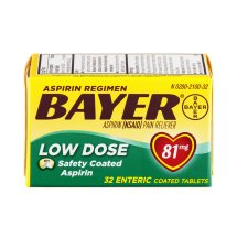 Bayer Aspirin Regimen Pain Reliever Low Dose Enteric Coated Tablets - 81mg, 32.0 CT