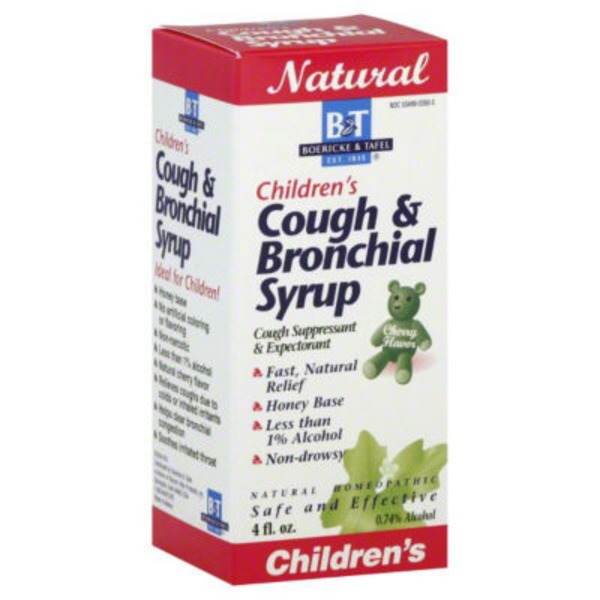 B&T Childern's Cough & Bronchial Syrup, Cherry Flavor
