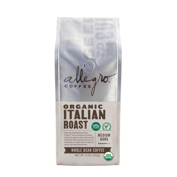 Allegro Organic Italian Roast Whole Bean Coffee