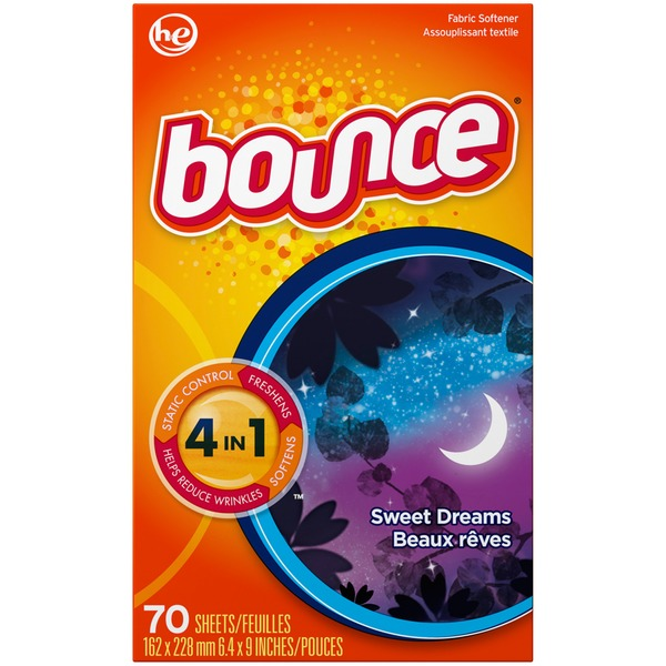 Bounce Fabric Softener Dryer Sheets Sweet Dreams 70CT Fabric Enhancers
