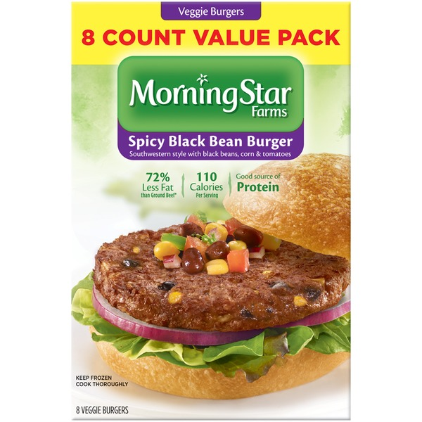 Morning Star Farms Spicy Black Bean Veggie Burgers