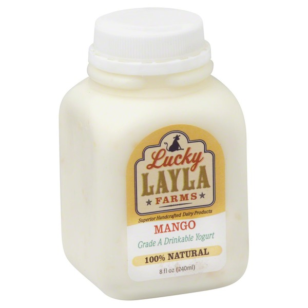 Lucky Layla Farms Drinkable Mango Yogurt