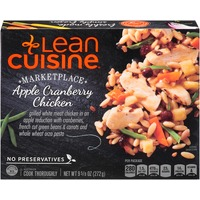 Lean Cuisine Marketplace Grilled white meat chicken in an apple reduction with cranberries, green beans & carrots and whole wheat orzo pasta Apple Cranberry Chicken