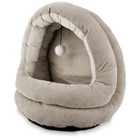 Petco Grey Hooded Cat Bed 15