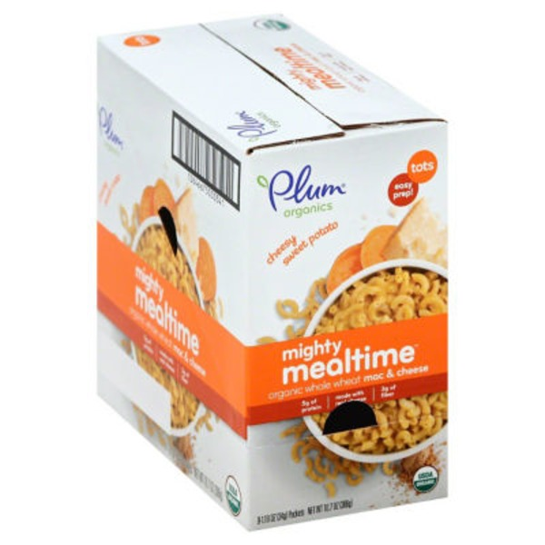 Plum Organics Mighty Mealtime Organic Whole Wheat Mac & Cheese Cheesy Sweet Potato