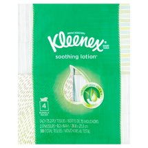 Kleenex Facial Tissues with Lotion, 75 sheets per Cube, 4 Pack