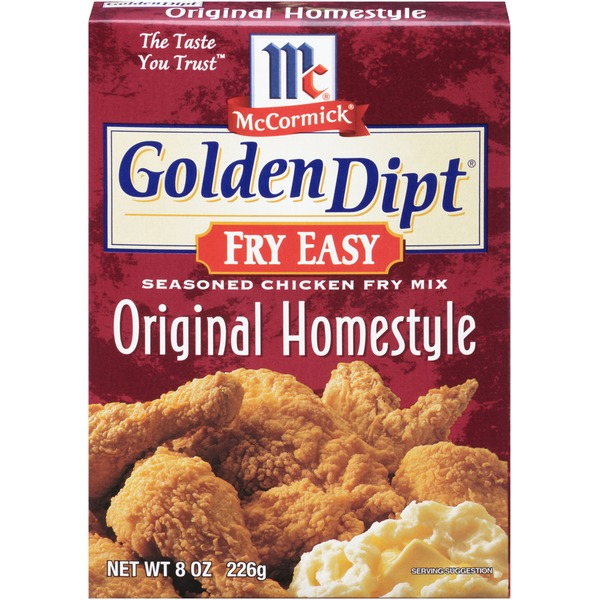 Mccormick Golden Dipt Original Homestyle Seasoned Chicken Fry Mix Fry Easy