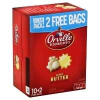 Orville Redenbachers Popcorn Light Butter - 12