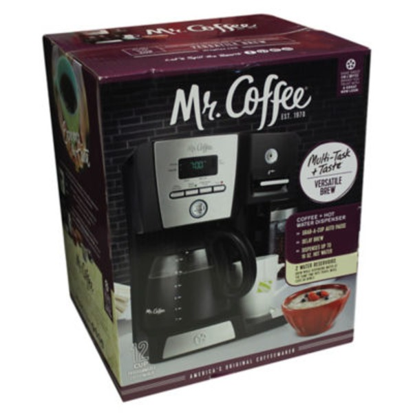 Mr. Coffee Versatile Brew 12 Cup Programmable Coffee Maker And Hot Water Dispenser