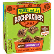 Nature Valley Backpacker Chocolate Chip Chewy Oatmeal Bites