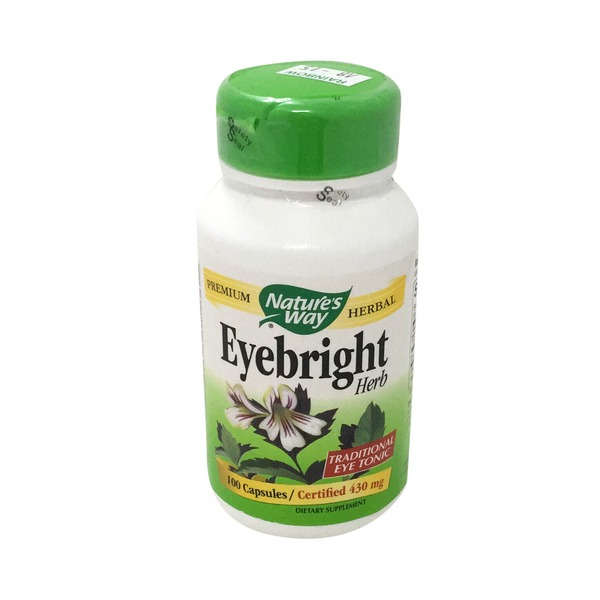 Nature's Way Eyebright Herb 430mg Capsules - 100 CT