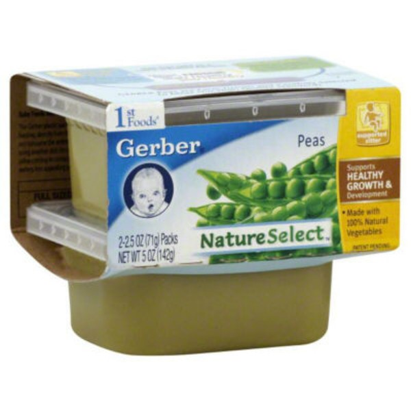 Gerber 1 St Foods Peas Purees-Vegetable