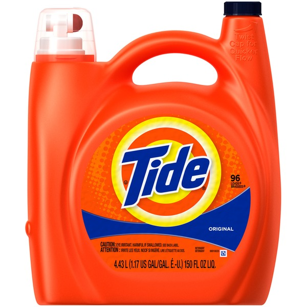 Tide Original Scent Liquid Laundry Detergent, 150 fl oz, 96 loads Laundry