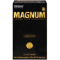 Trojan Magnum Lubricated Large Size Latex Condoms