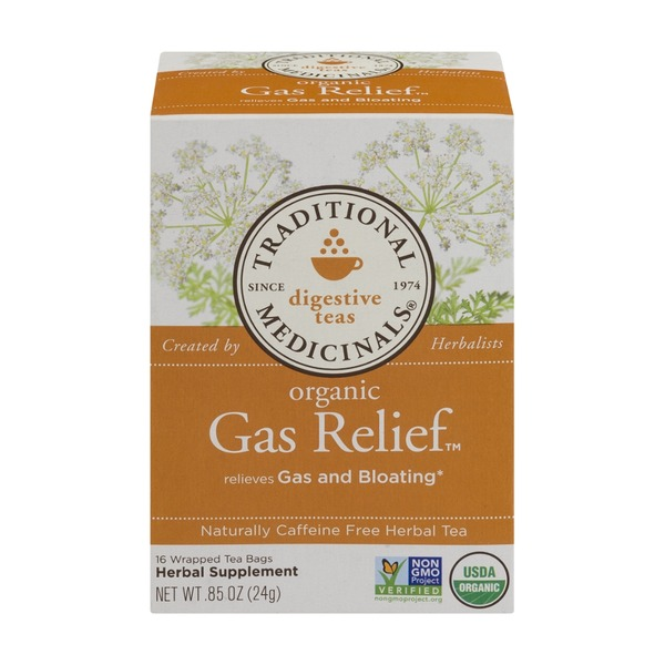 Traditional Medicinals Digestive Teas Organic Gas Relief Tea Bags - 16 CT