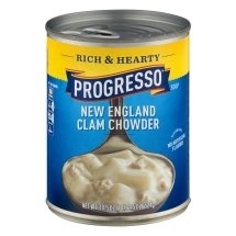 Progresso Soup, Rich & Hearty, New England Clam Chowder Soup, Gluten Free, 18.5 oz Cans, 18.5 OZ