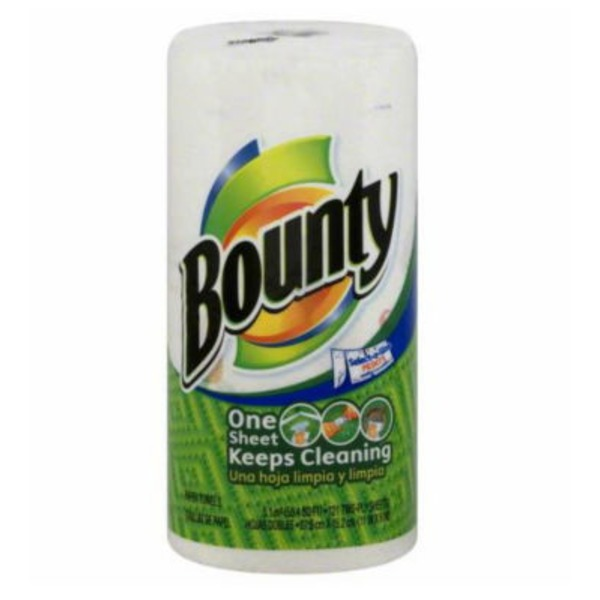 Bounty Basic Select-A-Size Paper Towels, Print, 1 Big Roll = 33% More Sheets Towels/Napkins