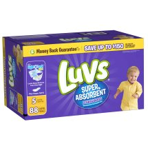 Luvs Super Absorbent Leakguards Diapers, Size 5, 88 Diapers