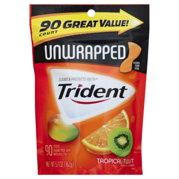 Trident Unwrapped Tropical Twist Pouch