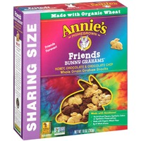 Annie's Homegrown Organic Honey, Chocolate and Chocolate Chip Friends Bunny Grahams Baked Grahams Snacks