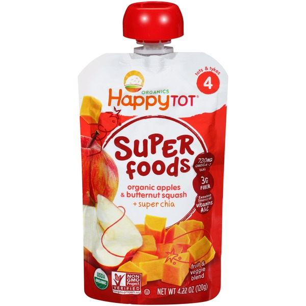 Happy Tot Organic Superfood Apples & Butternut Squash Baby Food