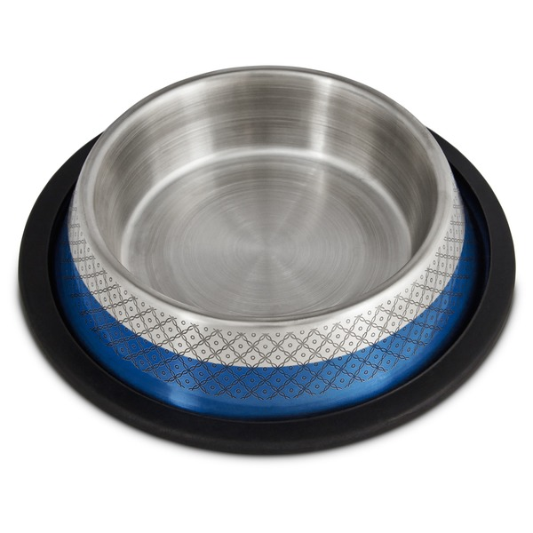 Harmony Blue Etched No Tip Stainless Steel Bowl Small