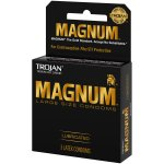 Trojan Magnum Large Size Lubricated Latex Condoms - 3 ct