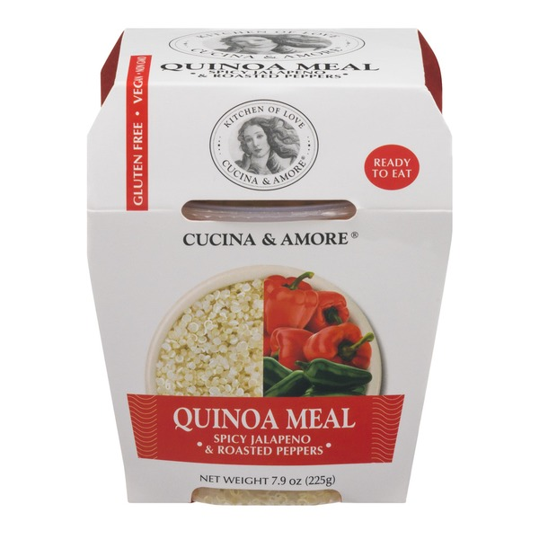 Cucina & Amore Quinoa Meal Spicy Jalapeno & Roasted Red Peppers