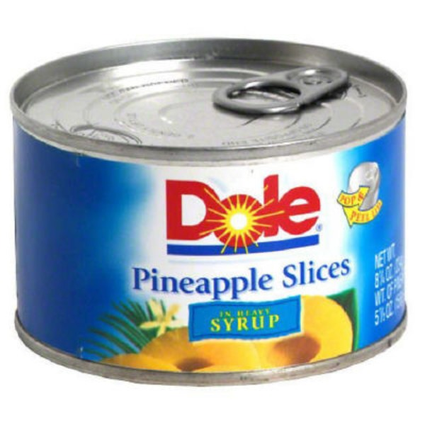 Dole Slices In Heavy Syrup Pineapple