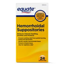 Equate Pain Relief Hemorrhoidal Suppositories, 24 Ct