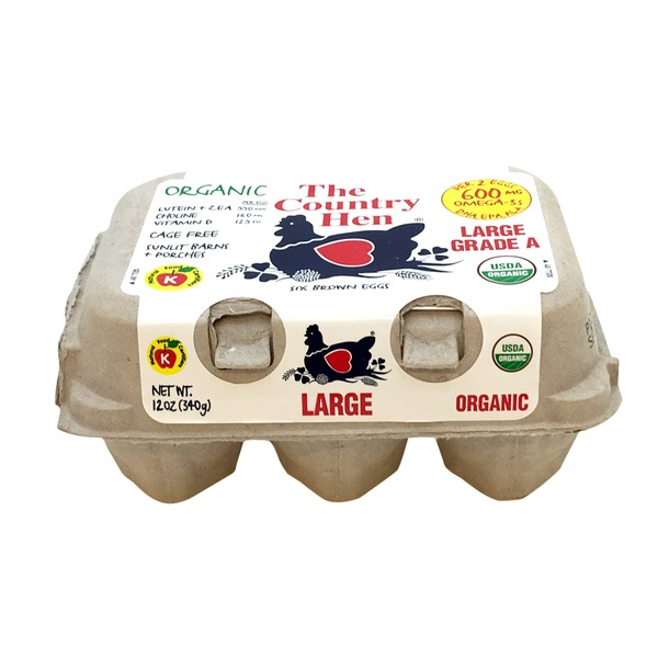 The Country Hen Organic Large Grade A Eggs