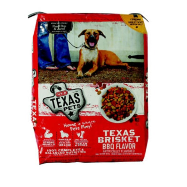 H-E-B Texas Pets Dry Dog Food Texas Bbq Brisket