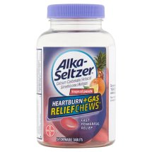 Alka-Seltzer Heartburn+Gas ReliefChews Tropical Punch Chewable Tablets, 54 count