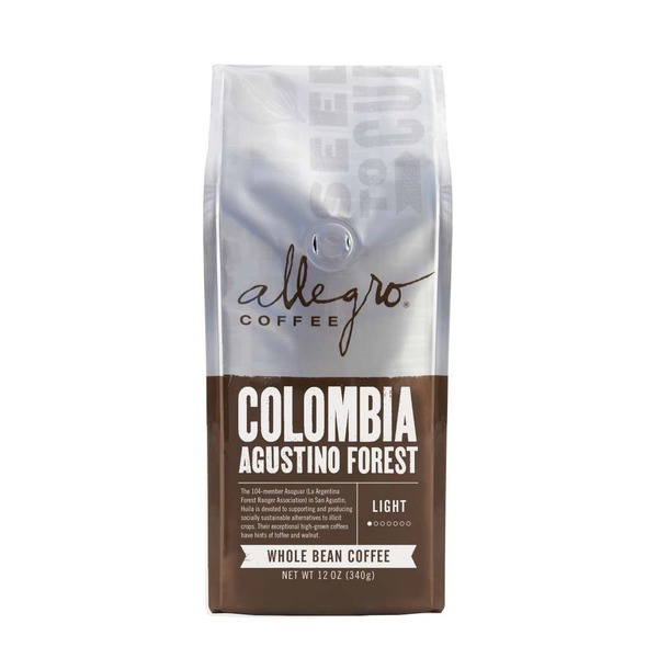 Allegro Colombia Agustino Forest Whole Bean Coffee