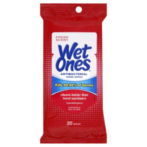 Wet Ones Antibacterial Fresh Scent Hand Wipes