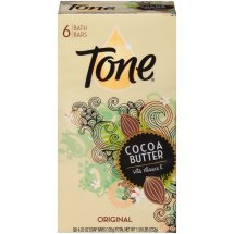 Tone Bath Bar Soap, Cocoa Butter, 4.25 Ounce Bars, 6 Count