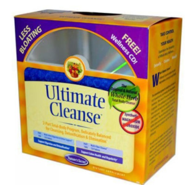 Nature's Secret Nature's Secret Ultimate Cleanse 2-Part Total-Body Detoxification Program with Wellness CD