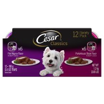 CESAR Canine Cuisine Variety Pack Filet Mignon and Porterhouse Steak Dog Food (12 Count)