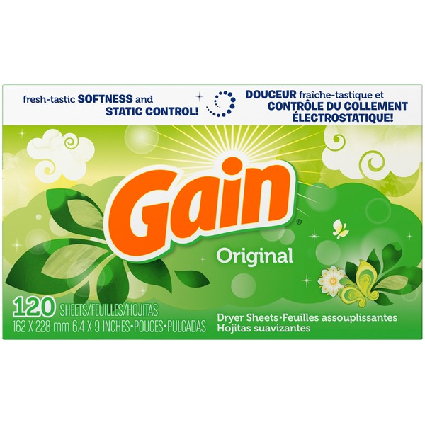Gain Original Dryer Sheets