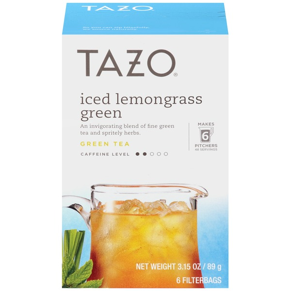 Tazo Tea Iced Lemongrass Green Tea Bags