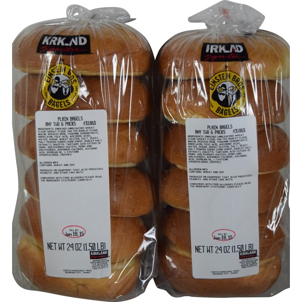 Kirkland Signature Bagels (Choose Any Two 6 Packs)