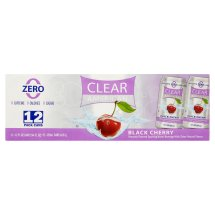 Clear American Sparkling Water, Black Cherry, 12 Fl Oz, 12 Count