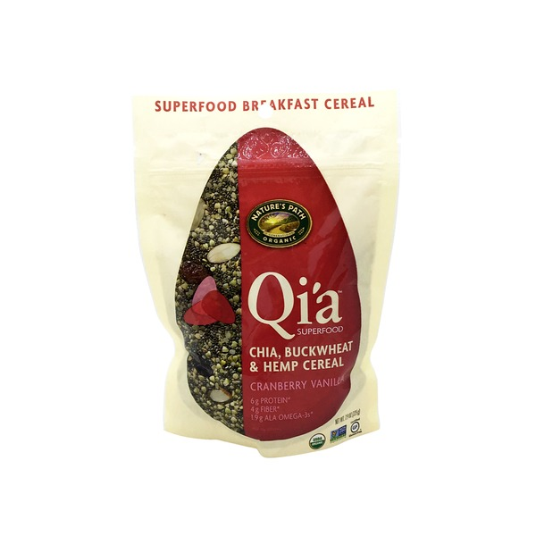 Nature's Path Qi'a Chia Cranberry Vanilla Buckwheat And Hemp Cereal