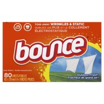 Bounce Outdoor Fresh Fabric Softener Dryer Sheets, 80 Sheets