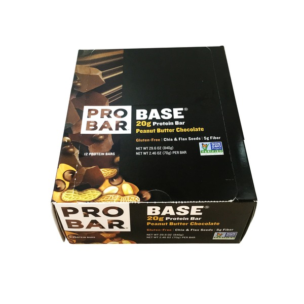 PROBAR Base Protein Bar Peanut Butter Chocolate - 12 CT